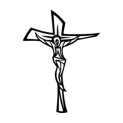 Adesivo Recortado para Carro - Crucifixo Estilizado (modelo 01) -