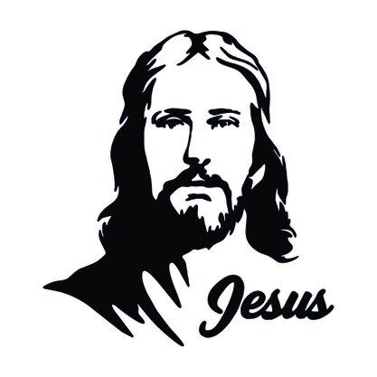 Adesivo Recortado para Carro - Face de Jesus (modelo 01) -