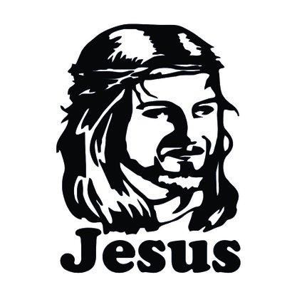 Adesivo Recortado para Carro - Face de Jesus (modelo 02) -