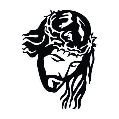 Adesivo Recortado para Carro - Face de Jesus (modelo 03 ) -