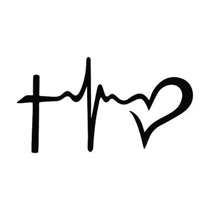 Adesivo Recortado para Carro - Fé,Esperança, Amor (modelo 03) -