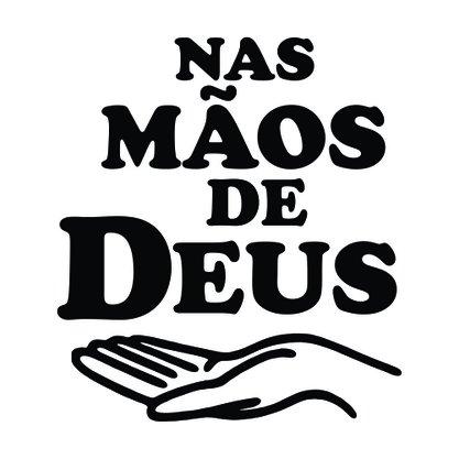 Adesivo Recortado para Carro - Nas Mãos de Deus -