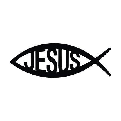 Adesivo Recortado para Carro - Peixe Jesus -