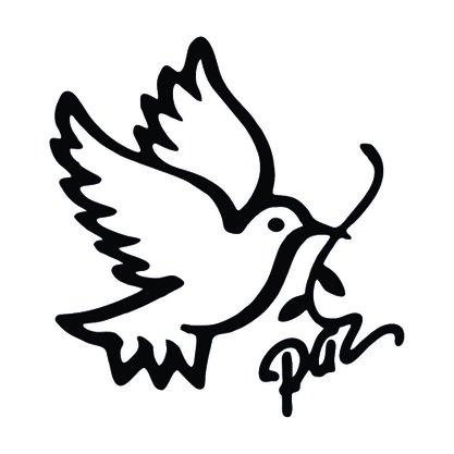 Adesivo Recortado para Carro - Pomba da Paz -