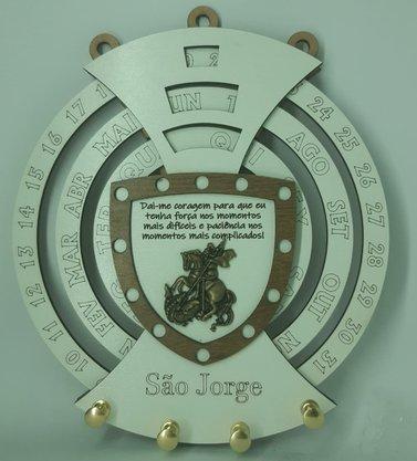 Calendário Permanente com Porta Chaves - São Jorge -