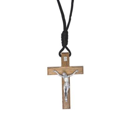 Colar - Crucifixo Madeira - Tradicional 7 cm -
