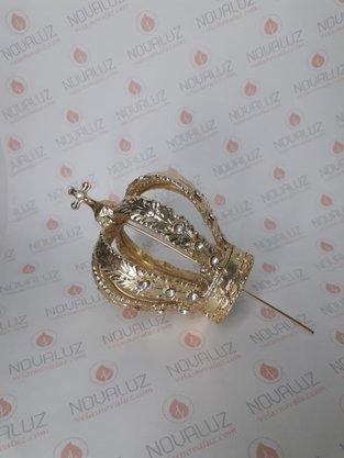 Coroa Fundição Dourada Strass  8 cm - Para Imagem de 80 cm -