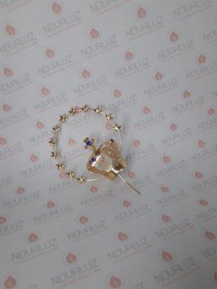 Coroa Resplendor Dourada 4 cm - Para Imagem de 25 cm -