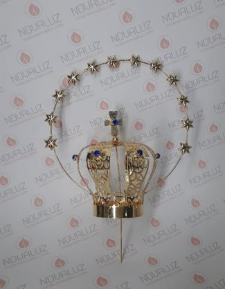 Coroa Resplendor Dourada 5,5 cm - Para Imagem de 30 cm -