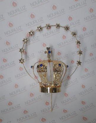 Coroa Resplendor Dourada 7 cm - Para Imagem de 40 cm -