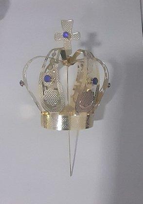 Coroa Simples Dourada 10,5 cm - Para Imagem de 80 cm -