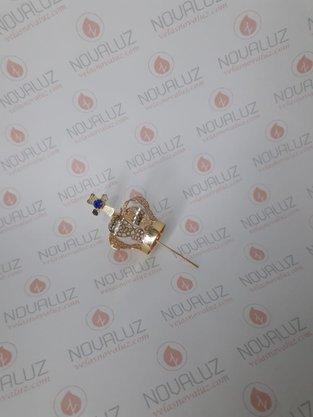 Coroa Simples Dourada 3,5 cm - Para Imagem de 20 cm -