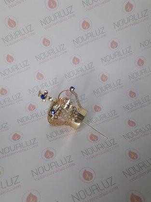 Coroa Simples Dourada 4 cm - Para Imagem de 25 cm -