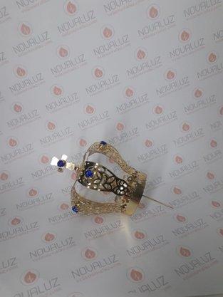 Coroa Simples Dourada 6 cm - Para Imagem de 30 cm -