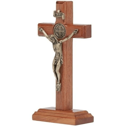 Crucifixo de Mesa 12 cm  - Ouro Velho