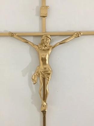 Crucifixo de Metal 32 x 18 - Barra Quadrada -