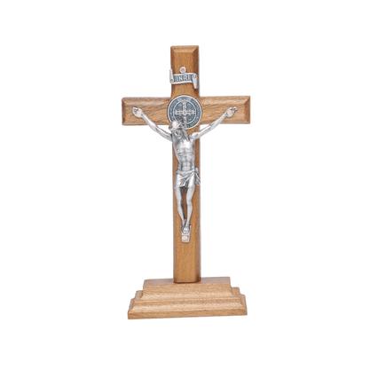Crucifixo para Mesa - São Bento - 12 cm -