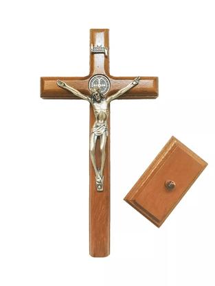 Crucifixo para Mesa - São Bento - 19 cm -