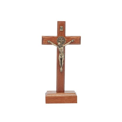 Crucifixo para Mesa - São Bento - 9 cm -