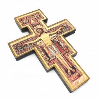 Cruz São Damião para Parede 12 cm -