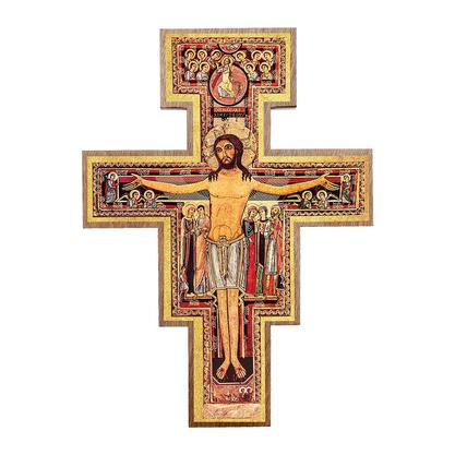 Cruz São Damião para Parede 7,5 cm -