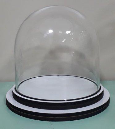 Cúpula de Vidro - 18,3 x 15 cm - Transparente -