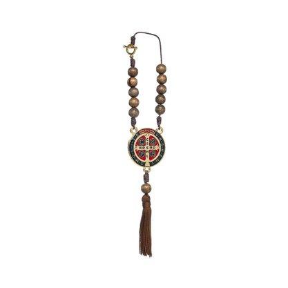 Dezena para Carro - Medalha de São Bento - colorida madeira -