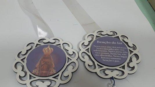 Escapulário de Porta com Imagem Fotográfica - Sagrada Família -
