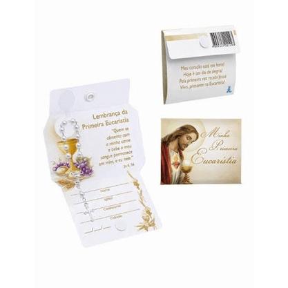 Lembrança - Cartão Eucaristia com Dezena -