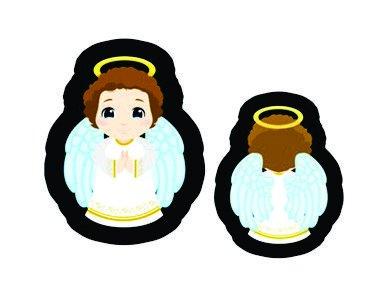 Nana-Neném - Anjo da Guarda-azul (com costas) -
