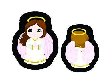 Nana-Neném - Anjo da Guarda - rosa (com costas) -