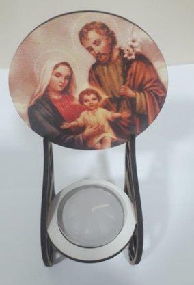 Pedestal em MDF com Vela Rechô - Sagrada Família -
