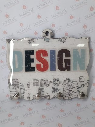 Porta Chaves 4 Pinos Resinado - Design -