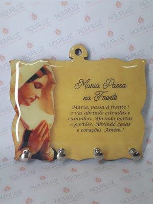 Porta Chaves 4 Pinos Resinado - Maria Passa á Frente -