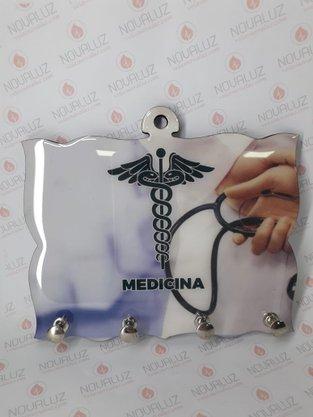Porta Chaves 4 Pinos Resinado - Medicina -