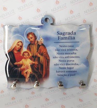 Porta Chaves 4 Pinos Resinado - Sagrada Família -