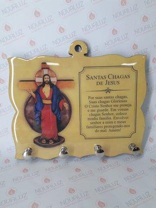Porta Chaves 4 Pinos Resinado - Santa Chagas de Jesus -