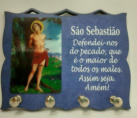 Porta Chaves com Imagem 3D - São Sebastião -