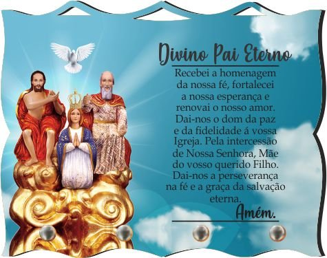 Porta Chaves com Imagem Fotográfica - Divino Pai Eterno -