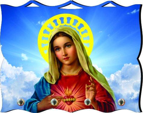 Porta Chaves com Imagem Fotográfica - Imaculado Coração de Maria -