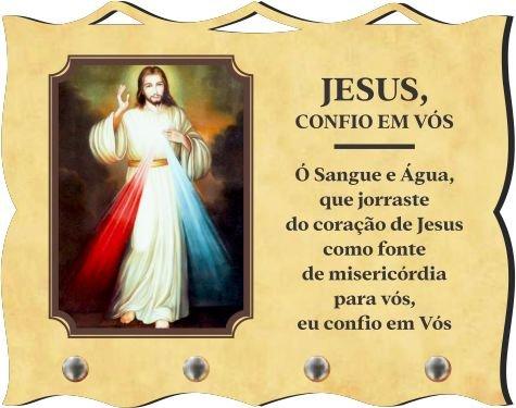 Porta Chaves com Imagem Fotográfica - Jesus Misericordioso -