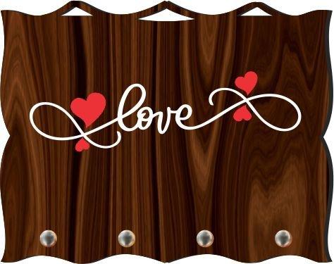 Porta Chaves com Imagem Fotográfica - Love -