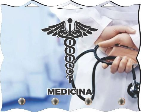 Porta Chaves com Imagem Fotográfica - Medicina -
