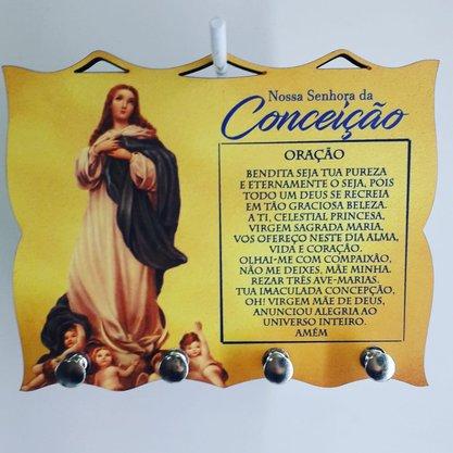 Porta Chaves com Imagem Fotográfica - N.S. da Conceição -
