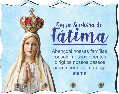 Porta Chaves com Imagem Fotográfica - N. S. de Fátima -