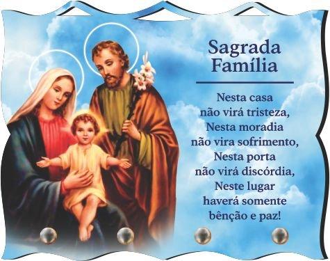 Porta Chaves com Imagem Fotográfica - Sagrada Família -
