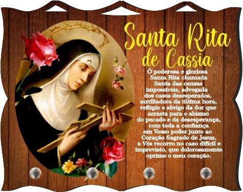 Porta Chaves com Imagem Fotográfica - Santa Rita de Cássia -