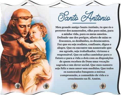 Porta Chaves com Imagem Fotográfica - Santo Antônio de Pádua -