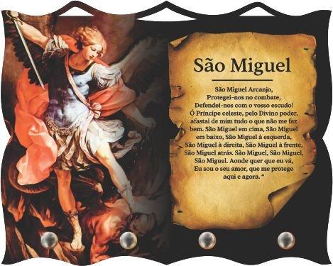Porta Chaves com Imagem Fotográfica - São Miguel Arcanjo -