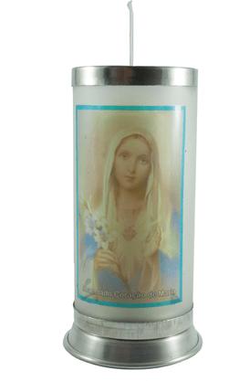 Porta Vela Fosco com Imagem Colorida - Imaculado Coração de Maria -